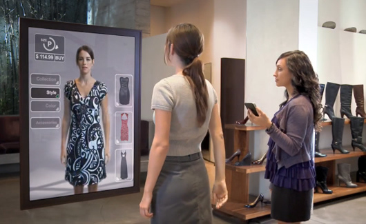 Interactive mirror with multiple options interesting for Miroir interactif