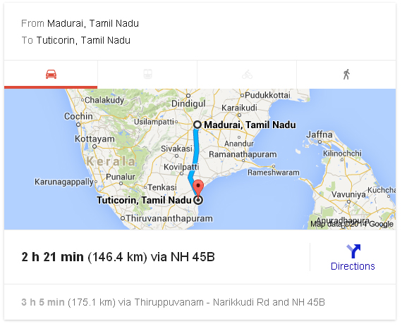 Madurai to Tuticorin Distance_classiblogger