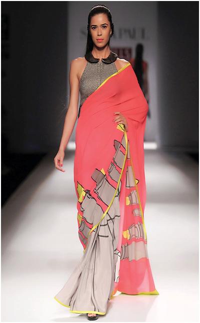 List of Designer Sarees to buy online_Satya Paul Printed Sarees_classiblogger 1