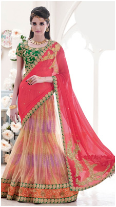 different ways to wear saree_different types to wear saree_Lehenga Style_classiblogger_1
