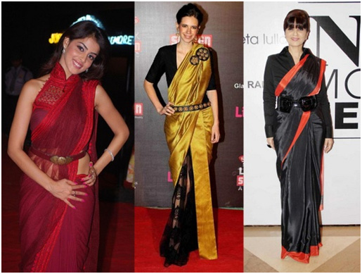 different ways to wear saree_different types to wear saree_broad belt style_classiblogger