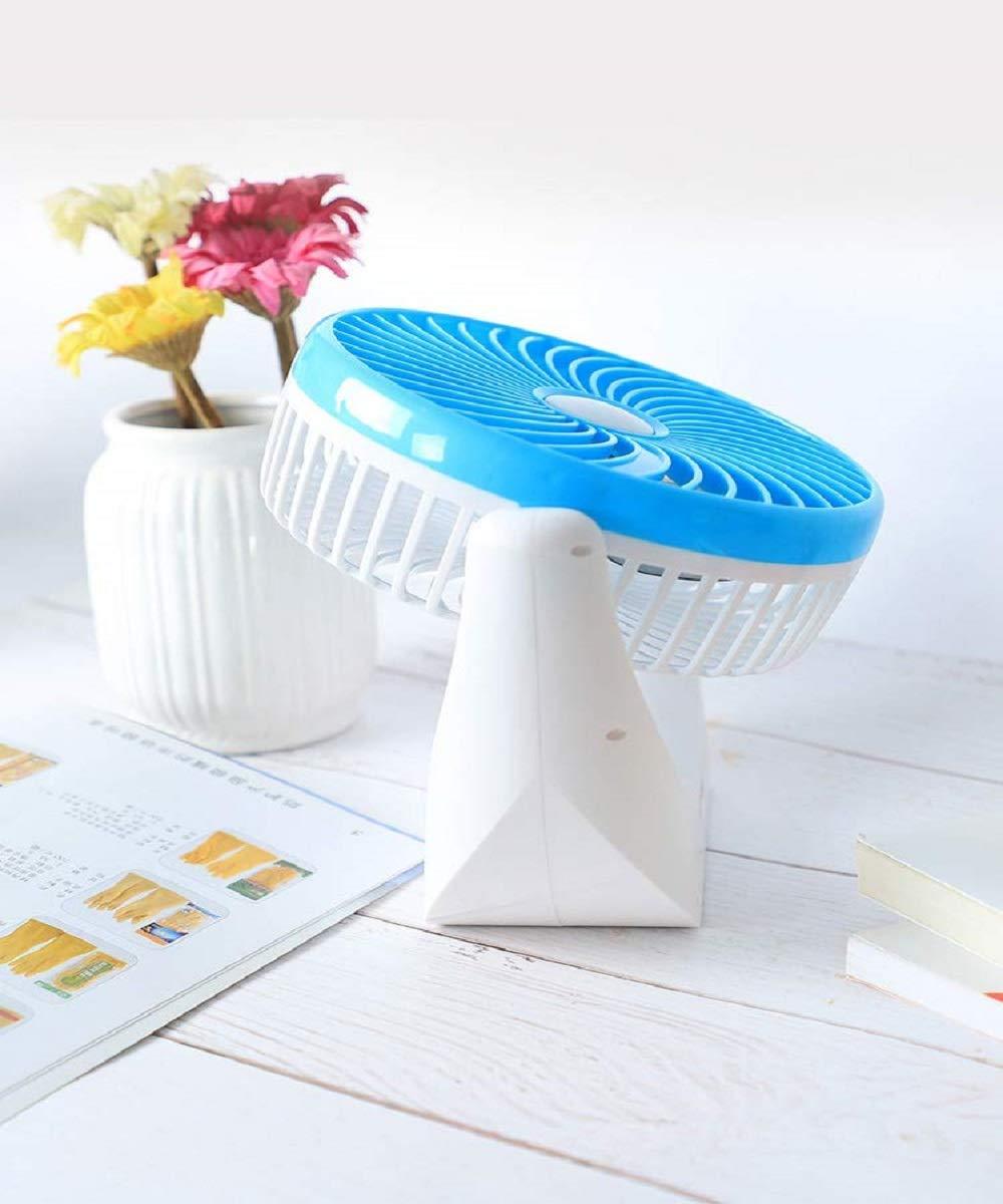 KLAY Led Light Multi Function Powerful Rechargeable Table Desk Fan