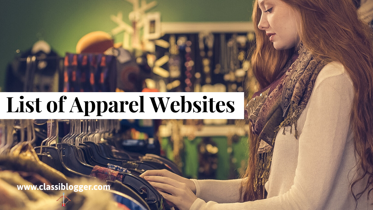 List of Apparel Websites
