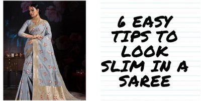 6 Easy Tips To Look Slim In A Saree-classiblogger