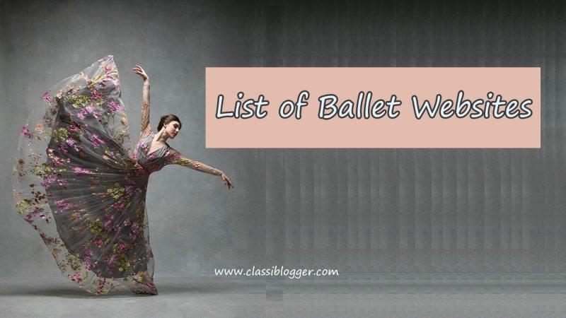 List of Ballet Websites