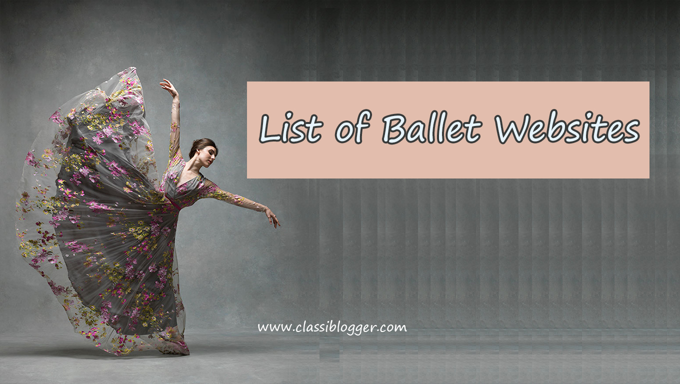 List of Ballet Websites